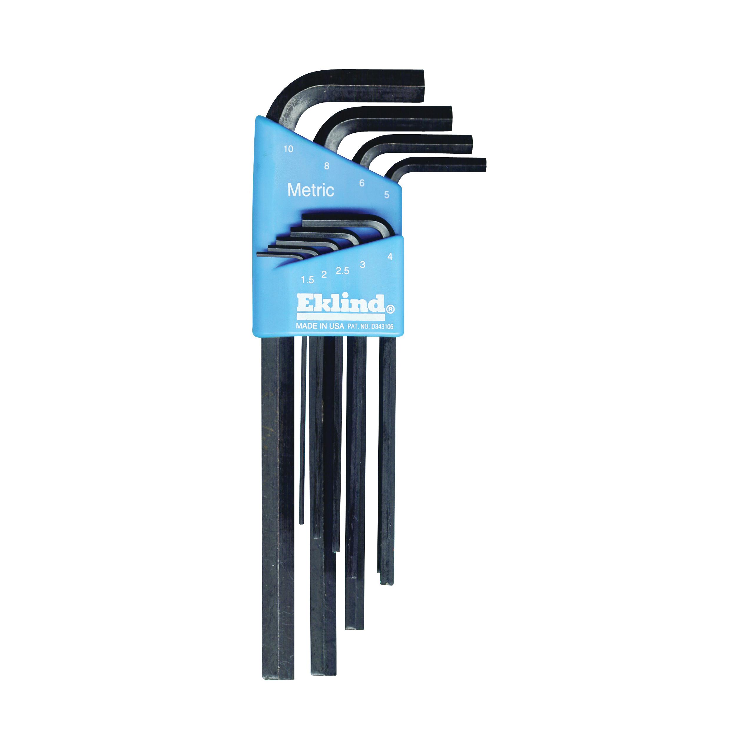 Picture of Eklind 10609 Hex Key Set, 9 -Piece, Steel, Black