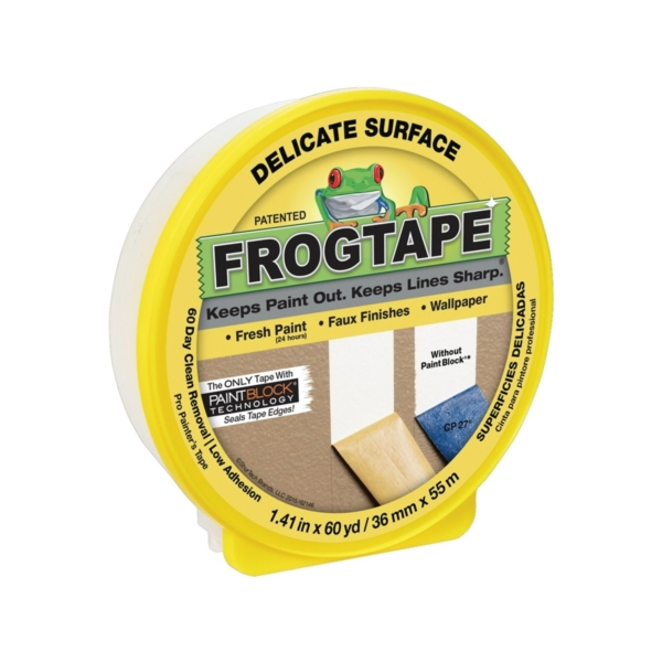 Picture of FrogTape 280221 Painting Tape, 60 yd L, 1.41 in W, Yellow