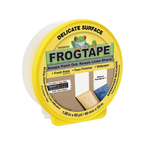 Picture of FrogTape 280222 Painting Tape, 60 yd L, 1.88 in W, Yellow