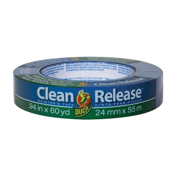 Picture of Duck Clean Release 240193 Painter's Tape, 60 yd L, 0.94 in W, Blue, 1, Roll