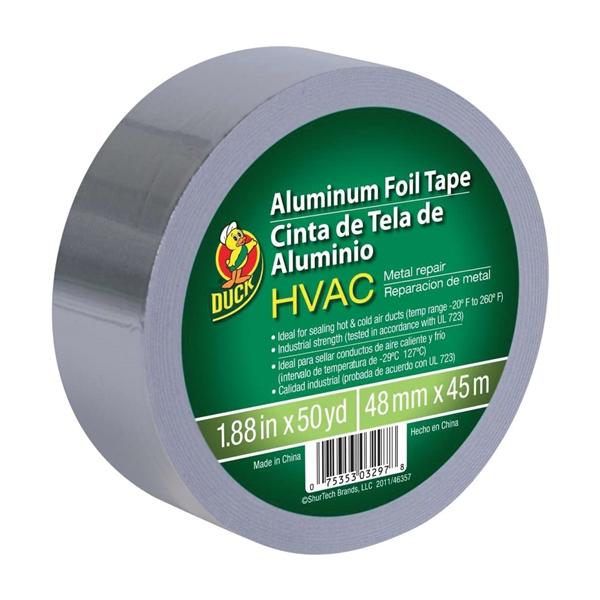 Picture of Duck 240225 Foil Tape, 50 yd L, 1.88 in W, Silver, 1, Roll