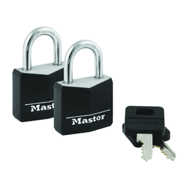 Picture of Master Lock 131T Padlock, Keyed Alike Key, 3/16 in Dia Shackle, Steel Shackle, Brass Body, 1-3/16 in W Body