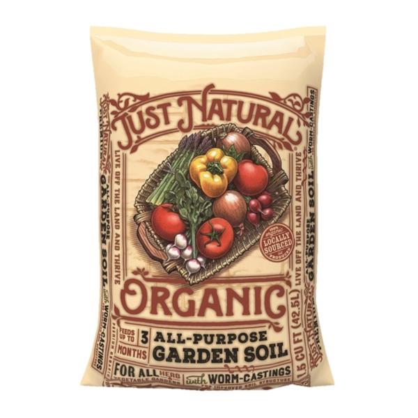 Picture of Jolly Gardener Just Natural 50150144 Premium Garden Soil, 1 cu-ft Package, Bag