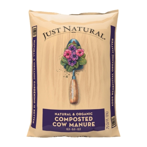 Picture of Jolly Gardener Just Natural 50050006 Composted Cow Manure, 0.75 cu-ft Package, Bag