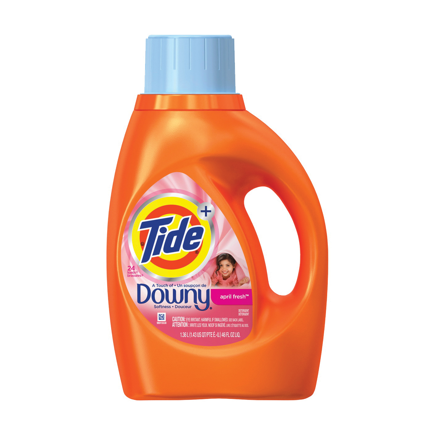 Picture of Tide 87453 Laundry Detergent, 46 oz, Bottle, Liquid, April Fresh, Floral
