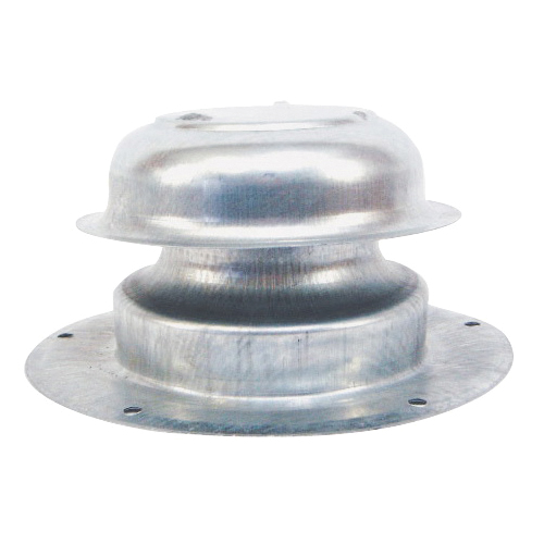 Picture of US Hardware V-015C Plumbing Cap, 2-7/8 in Connection, Steel, White, Zinc