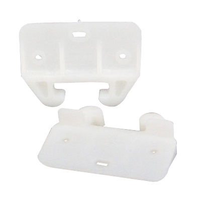 Picture of US Hardware WP-8813C Drawer Guide, Plastic, White, 2, Carded