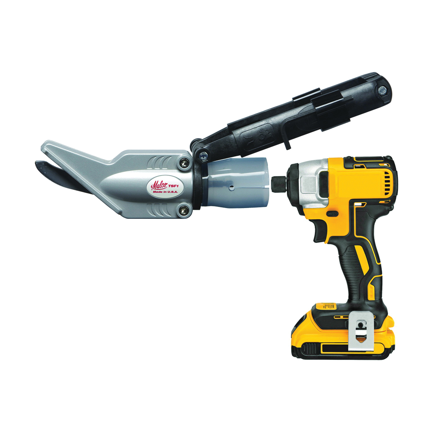Picture of Malco TSF1 Siding Shear Attachment, Steel, For: 14.4 V or Larger Cordless or Standard A/C Power Drills