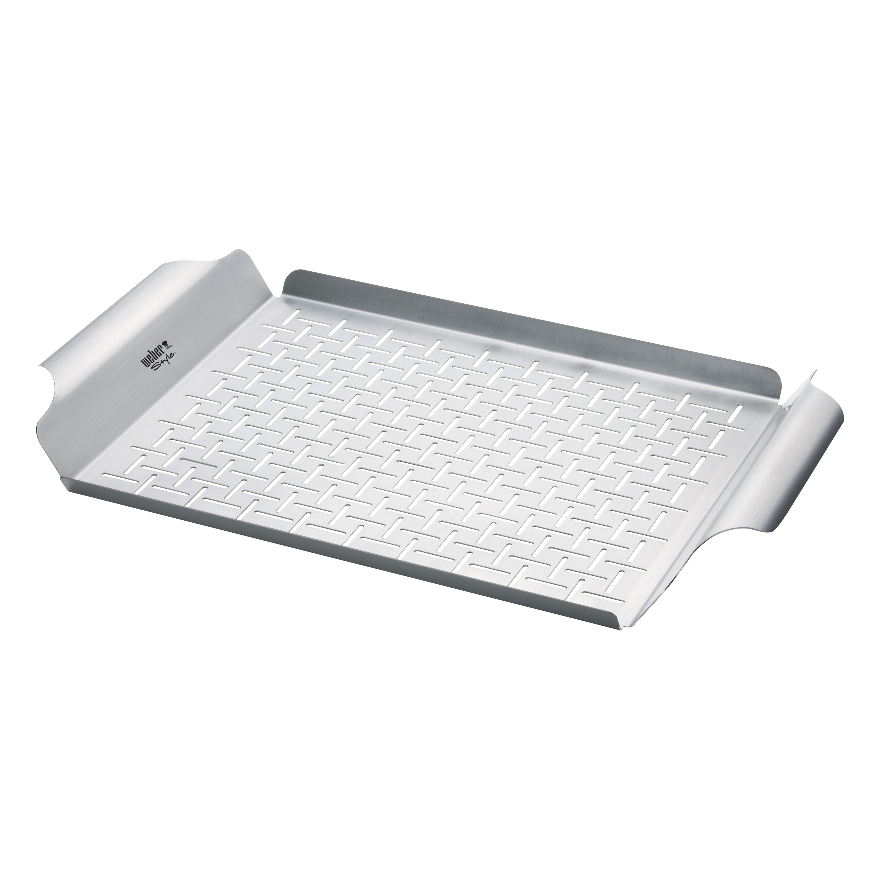 Picture of Weber 6435 Grill Pan, 11 in L, 17 in W, Stainless Steel