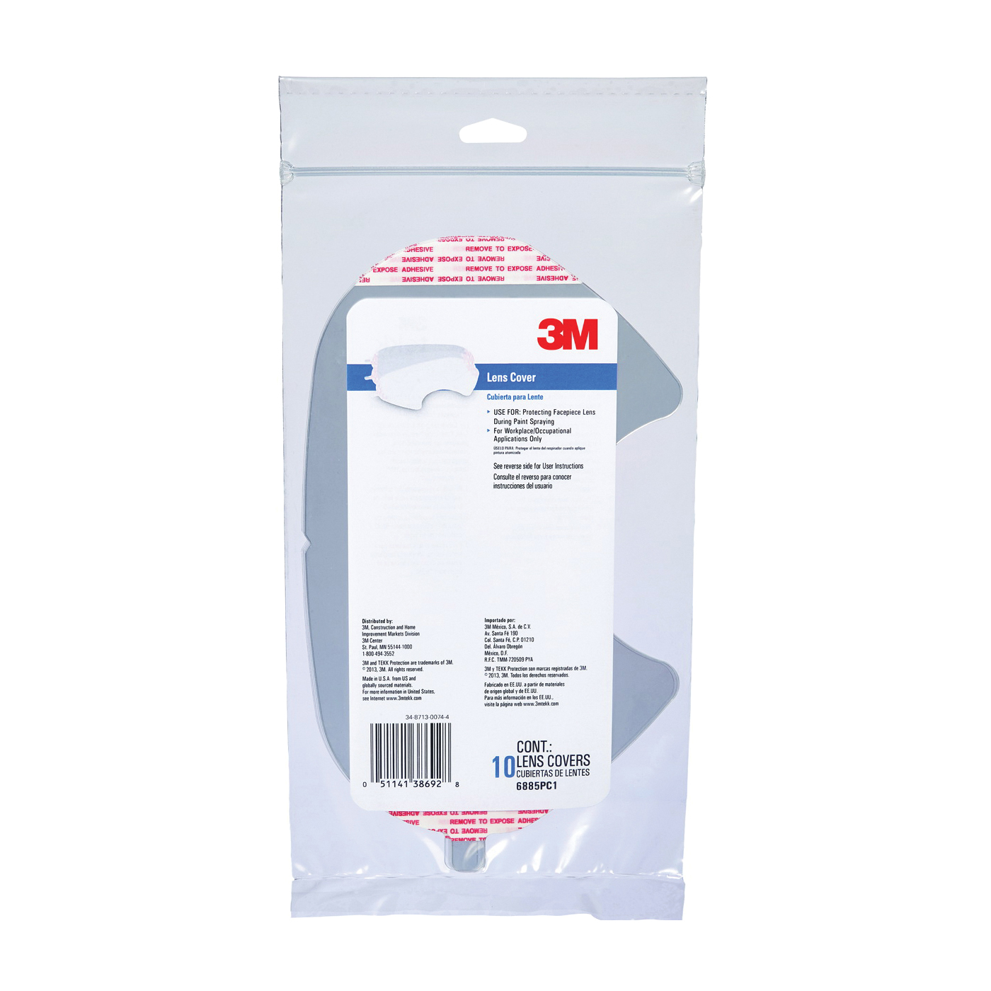 Picture of 3M 6885PC1-B10 Face Shield Cover