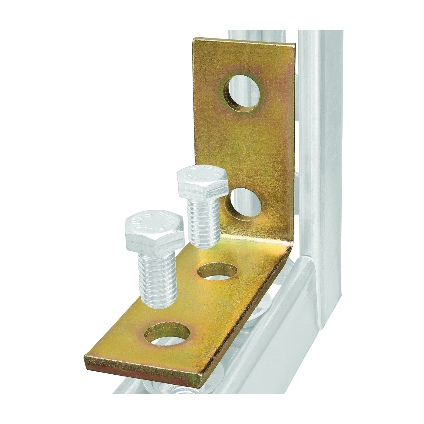 Picture of SuperStrut 200 Series ZAB205-10 Angle Bracket Fitting, Plastic, Gold, Galvanized