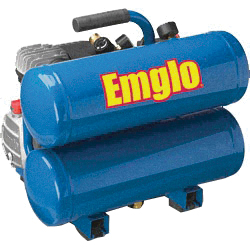 Picture of Emglo E810-4V Air Compressor, 4 gal Tank, 1.1 hp, 120 V, 125 psi Pressure, 4 scfm Air