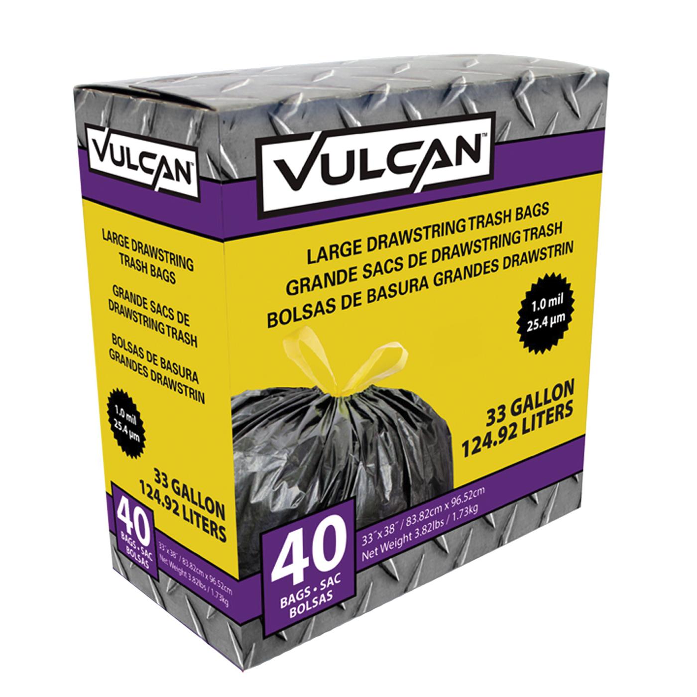 Picture of VULCAN FG-O3812-03 Trash Bag, 33 gal Capacity, Black
