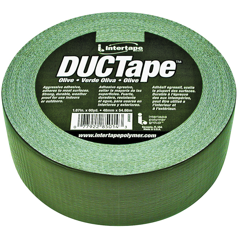 Picture of IPG 20C-OD2 Duct Tape, 60 yd L, 1.88 in W, Polyethylene-Coated Cloth Backing, Olive Drab