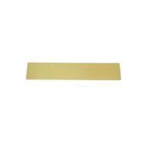 Picture of Schlage SC8400PA3 6X30 Kick Plate, 30 in L, 6 in W, Aluminum, Brass