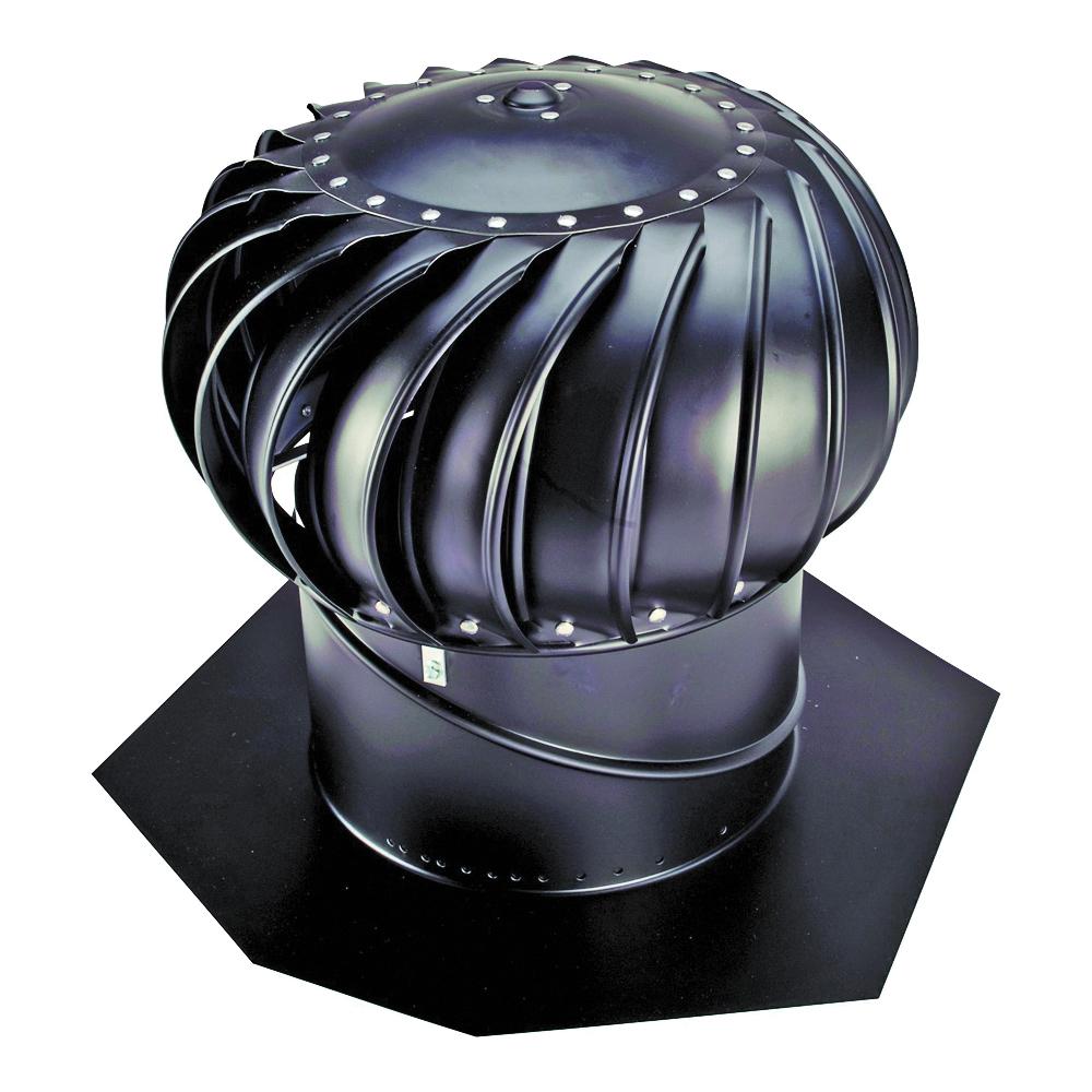 Picture of LOMANCO Whirlybird BIB14B Turbine Ventilator, 14 in Dia Throat, Aluminum, Black