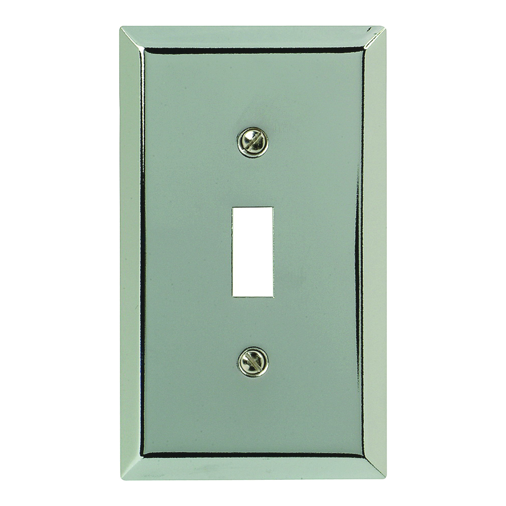 Picture of Amerelle 161T Wallplate, 4-15/16 in L, 2-7/8 in W, 1-Gang, Steel, Polished Chrome
