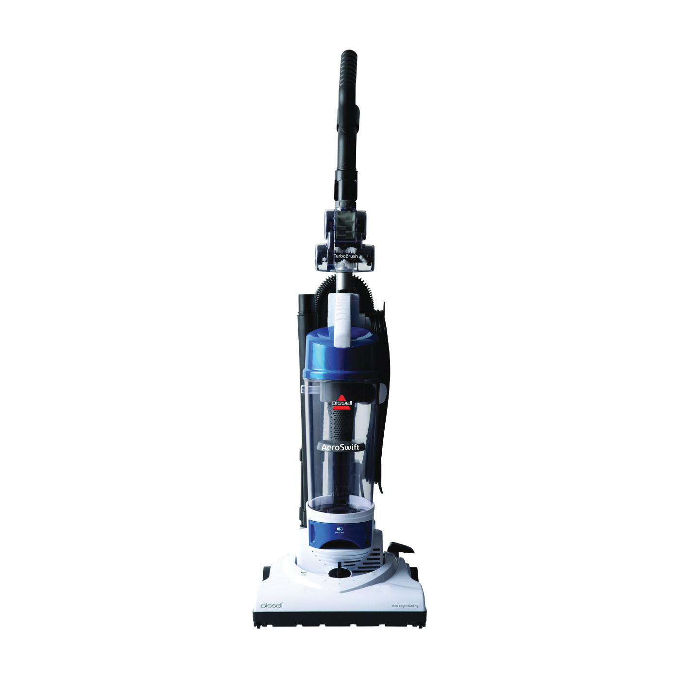 Picture of BISSELL AeroSwift 1009 Vacuum Cleaner, 1-Stage Filter, 30 ft L Cord, White Housing