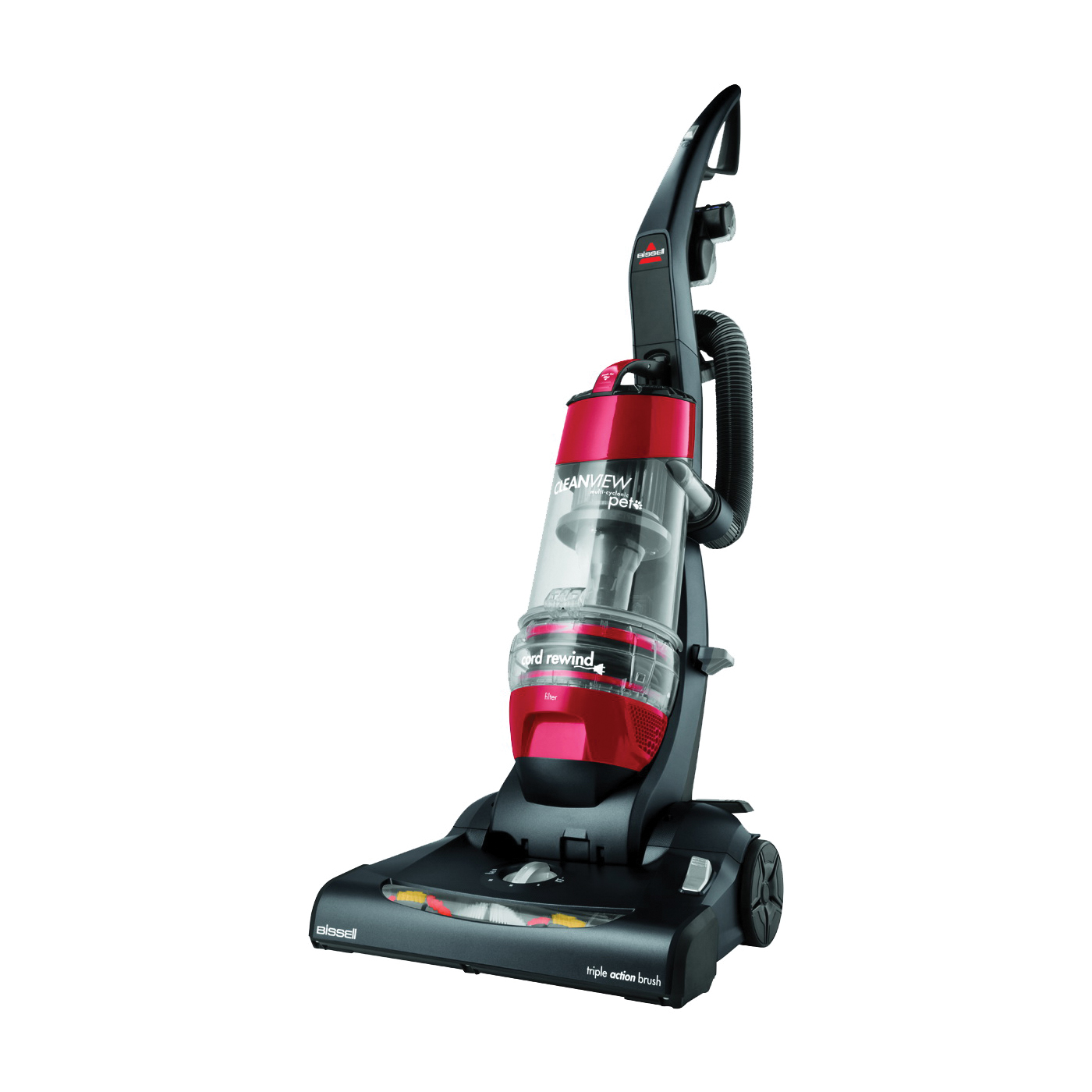 Picture of BISSELL CleanView 1319 Vacuum Cleaner, Multi-Level Filter, 27 ft L Cord, Red Housing