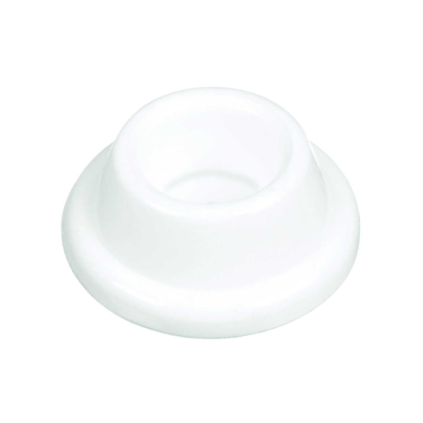 Picture of National Hardware N243-816 Door Stop, 1.9 in Dia Base, 0.72 in Projection, Plastic, White