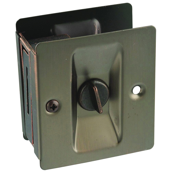 Picture of National Hardware V1951 Series N336-412 Pocket Door Latch, Brass, Antique Bronze