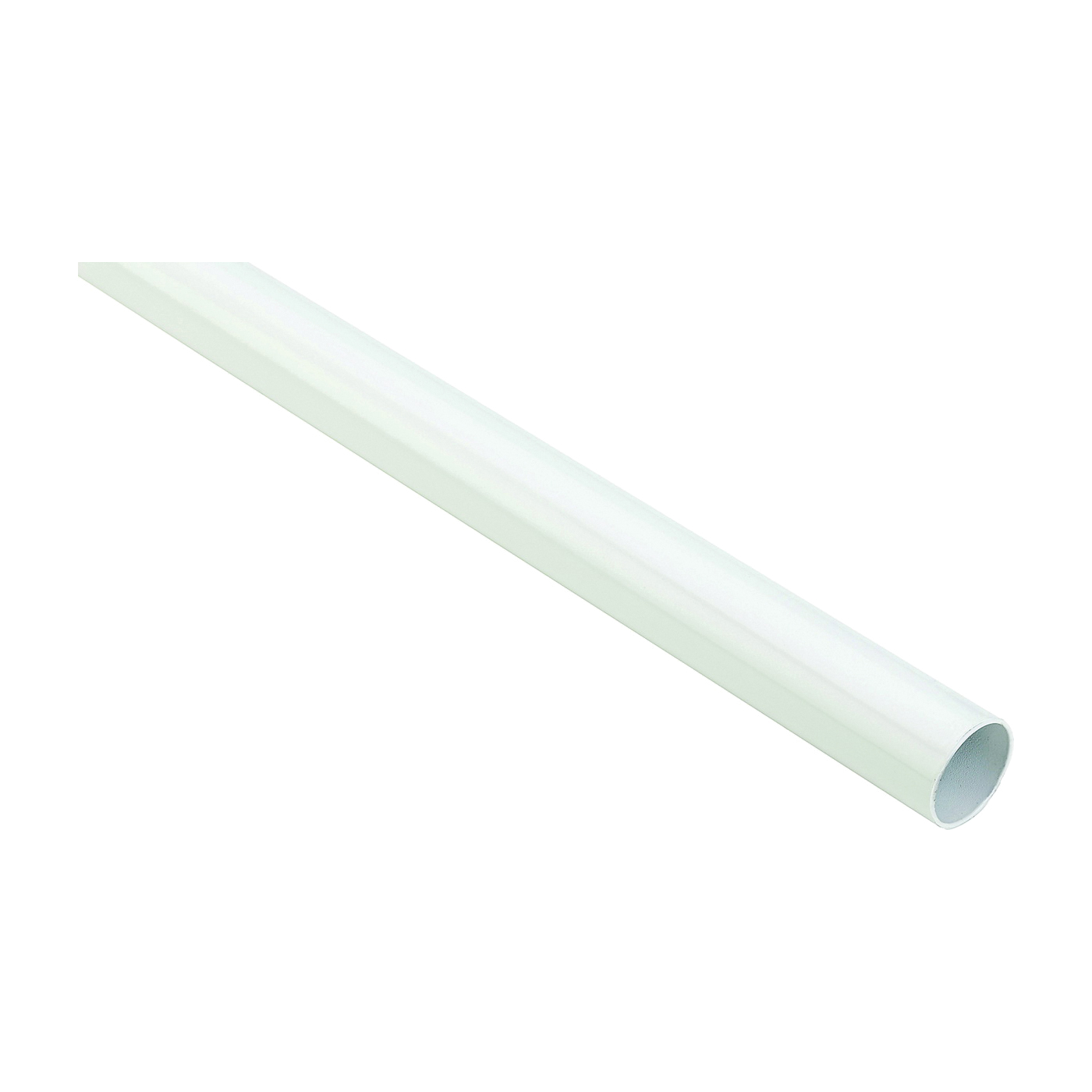 Picture of National Hardware BB8603 Series S822-098 Closet Rod, 1.32 in Dia, 6 ft L, Steel, White