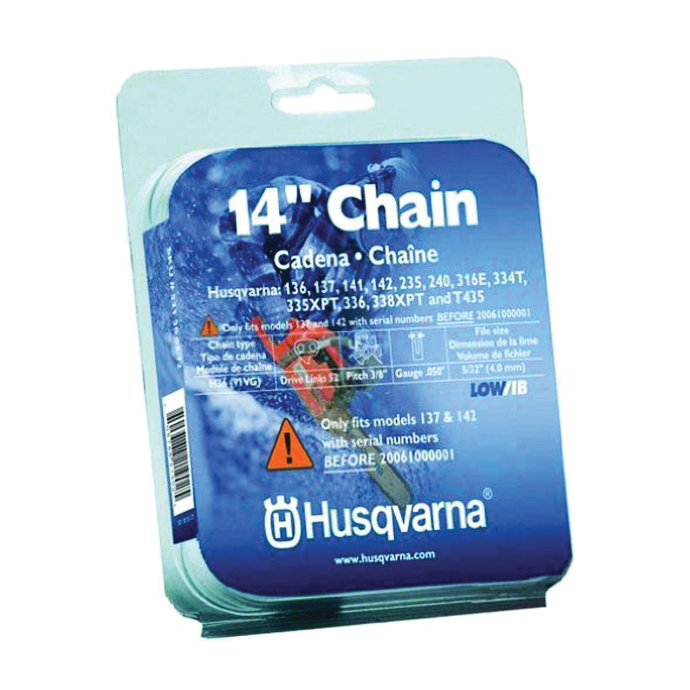 Picture of Poulan Pro 531300372 Chainsaw Chain, 14 in L Bar, 0.05 Gauge, 3/8 in TPI/Pitch