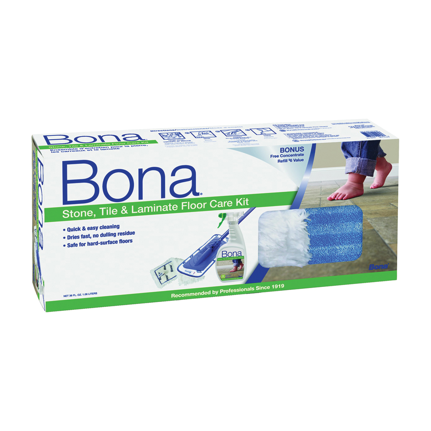 Picture of Bona WM710013385 Floor Care Kit, Turquoise