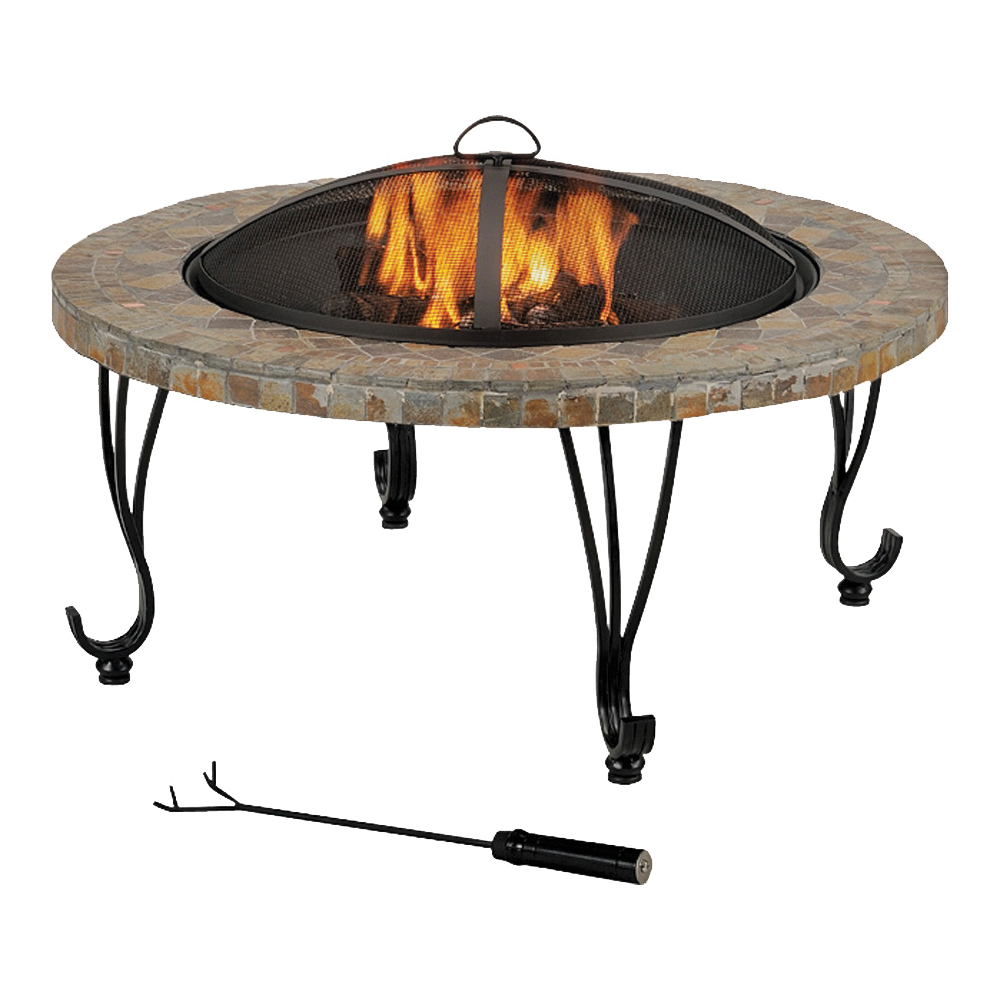 Picture of Seasonal Trends FTB-121 Outdoor Fire Pit with Slate Top, 21 in OAH