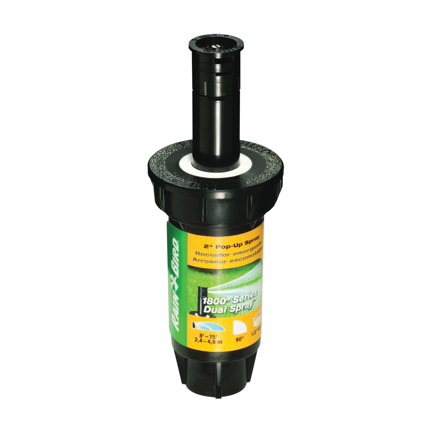 Picture of Rain Bird 1802QDS Spray Head Sprinkler, 1/2 in Connection, FNPT, Plastic