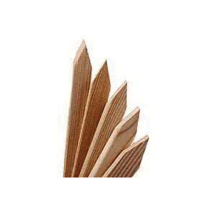Picture of UPF 7616 Chisel Point Grade Stake, 24 in L, 3 in W, Wood, Yellow