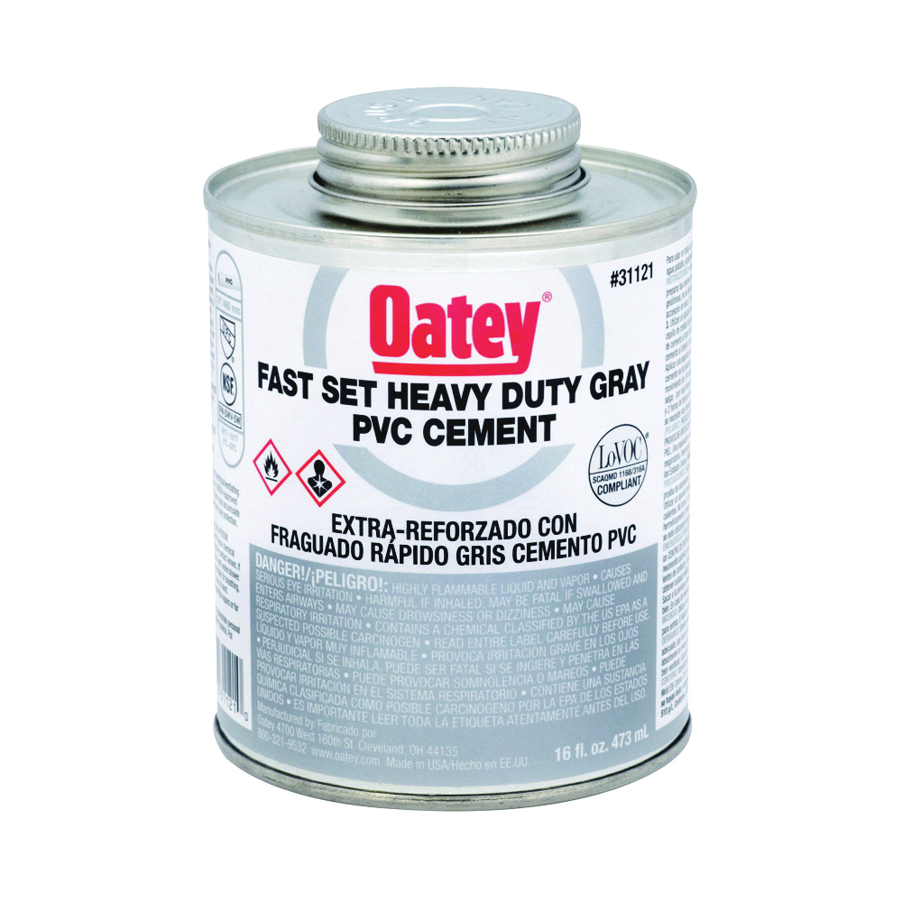 Picture of Oatey 31121 Solvent Cement, 16 oz, Can, Liquid, Gray