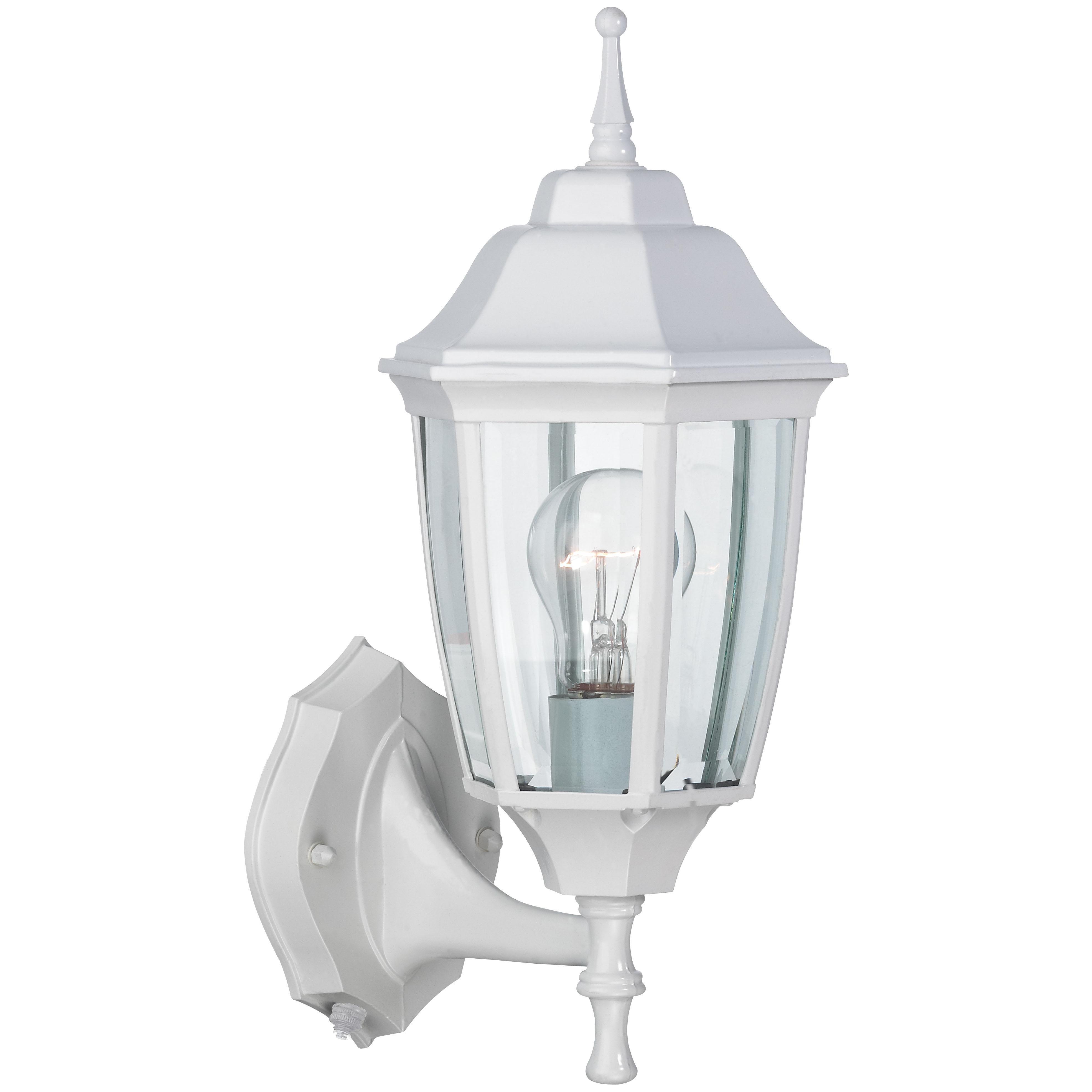 Picture of Boston Harbor DTDW Dusk/Dawn Lantern, CFL Lamp, Aluminum Fixture, White Fixture