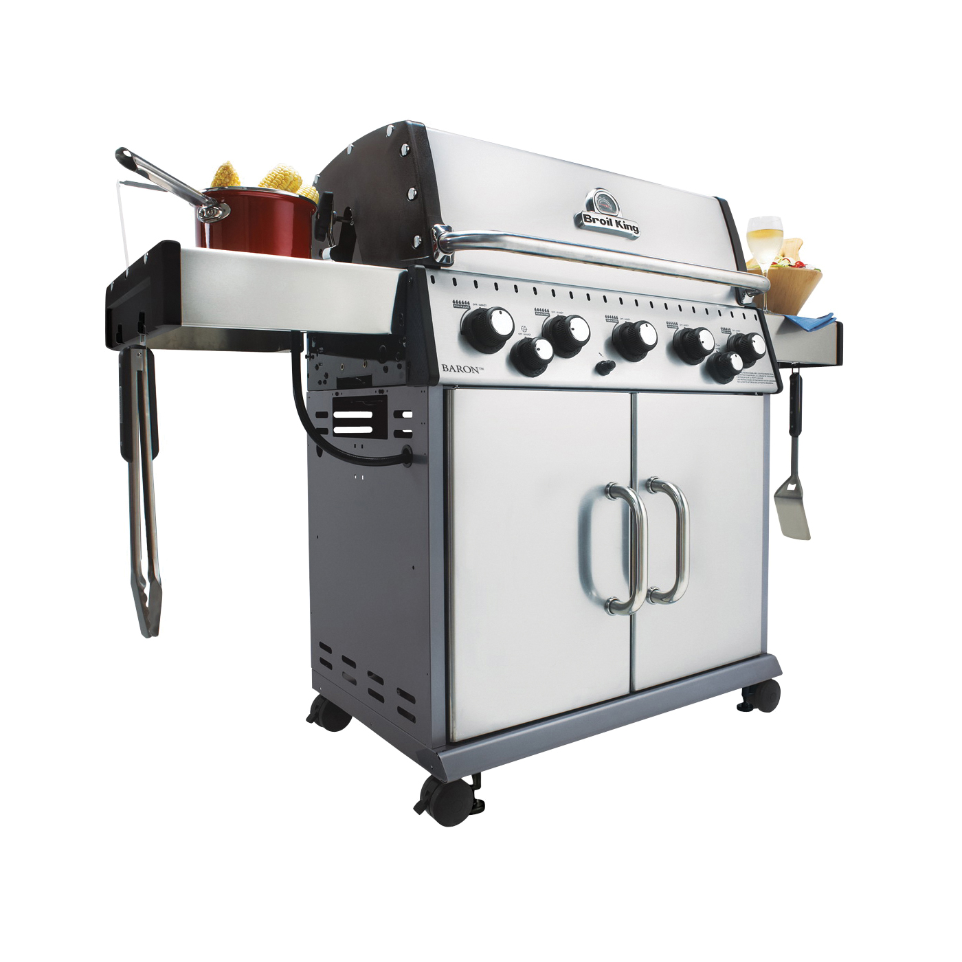 Picture of Broil King Baron 923584 Gas Grill, 50000 Btu/hr BTU, Liquid Propane, 5 -Burner, 555 sq-in Primary Cooking Surface