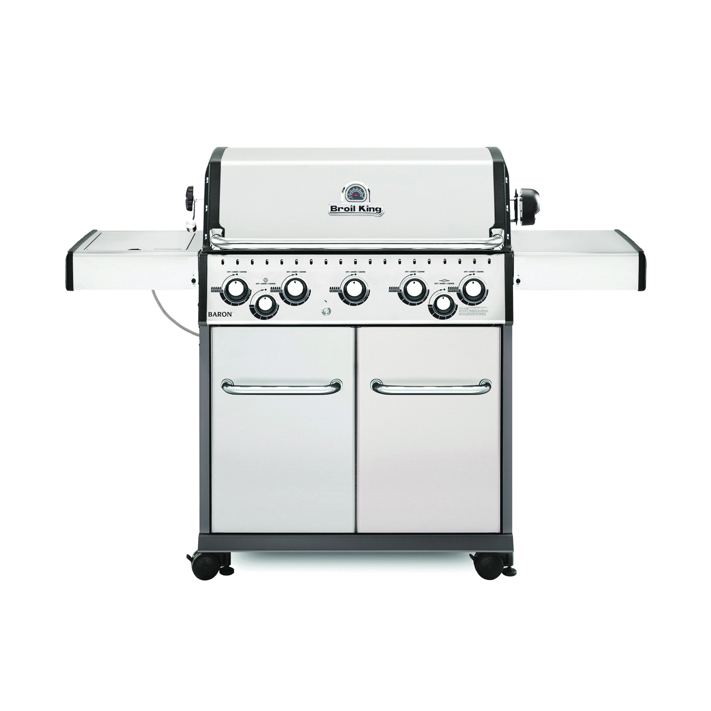 Picture of Broil King Baron 923587 Gas Grill, 50000 Btu/hr BTU, Natural Gas, 5 -Burner, 555 sq-in Primary Cooking Surface