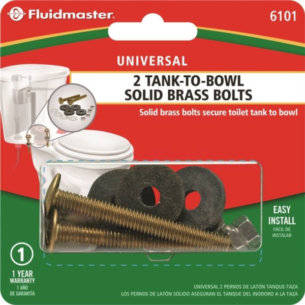 Picture of FLUIDMASTER 6101 Tank-to-Bowl Bolt, Brass, For: Rocking Toilets