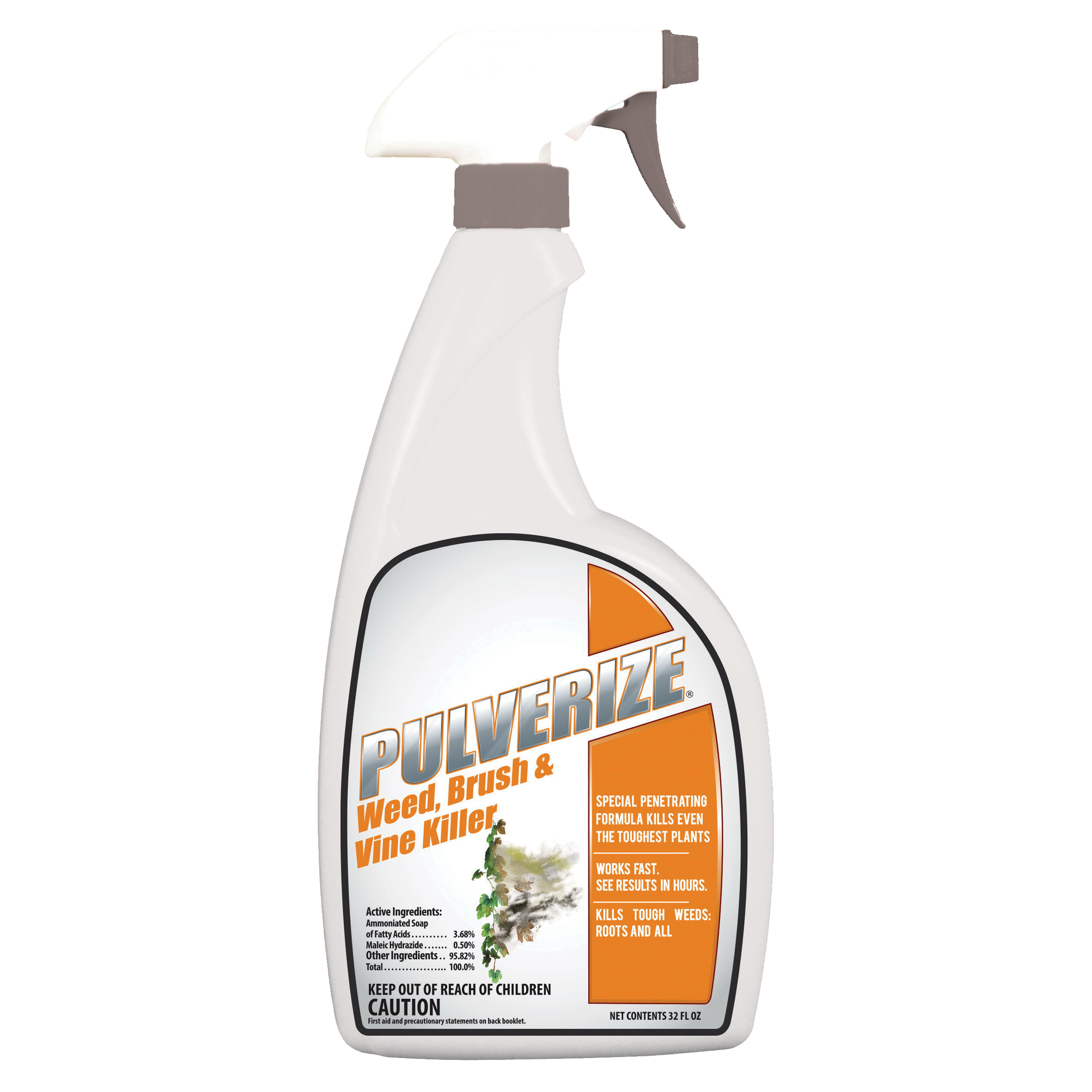 Picture of Pulverize PWBV-U-032 Brush and Vine Killer, Liquid, Clear, 32 oz Package, Bottle