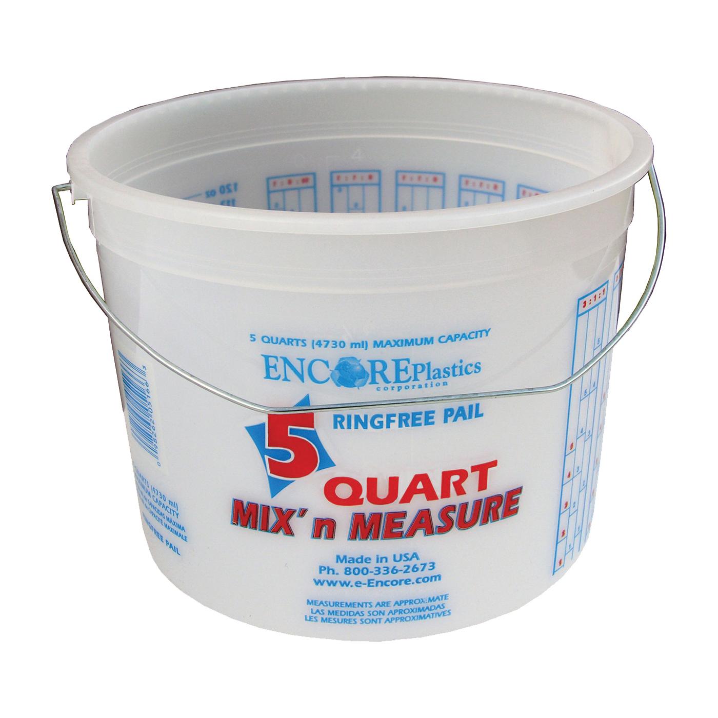 Picture of ENCORE Plastics 05166 Paint Container, 5 qt Capacity, Plastic