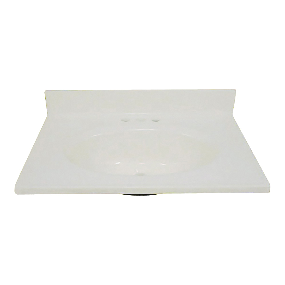 Picture of Foremost BS-2237 Vanity Top, 37 in OAL, 22 in OAW, Marble, Bone, Countertop Edge