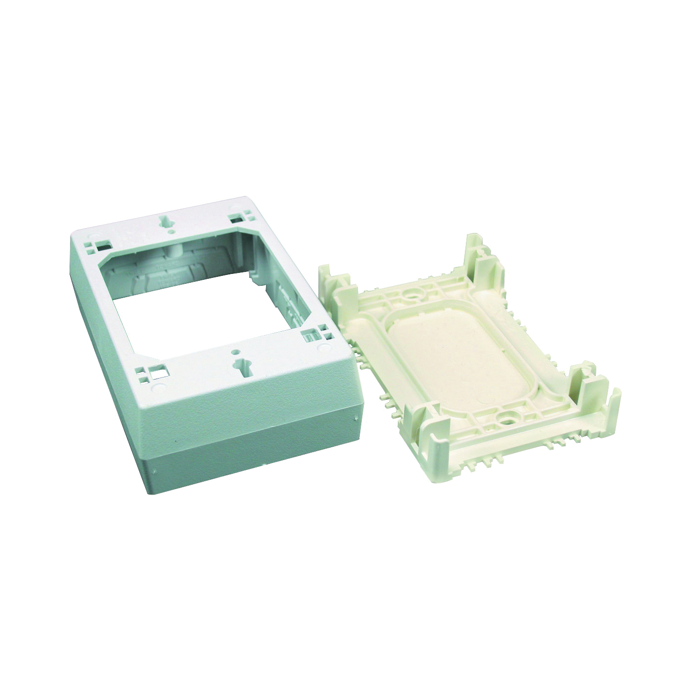 Picture of Legrand Wiremold NMW Series NMW3 Outlet Box, 1-Gang, Plastic, White, Wall Mounting
