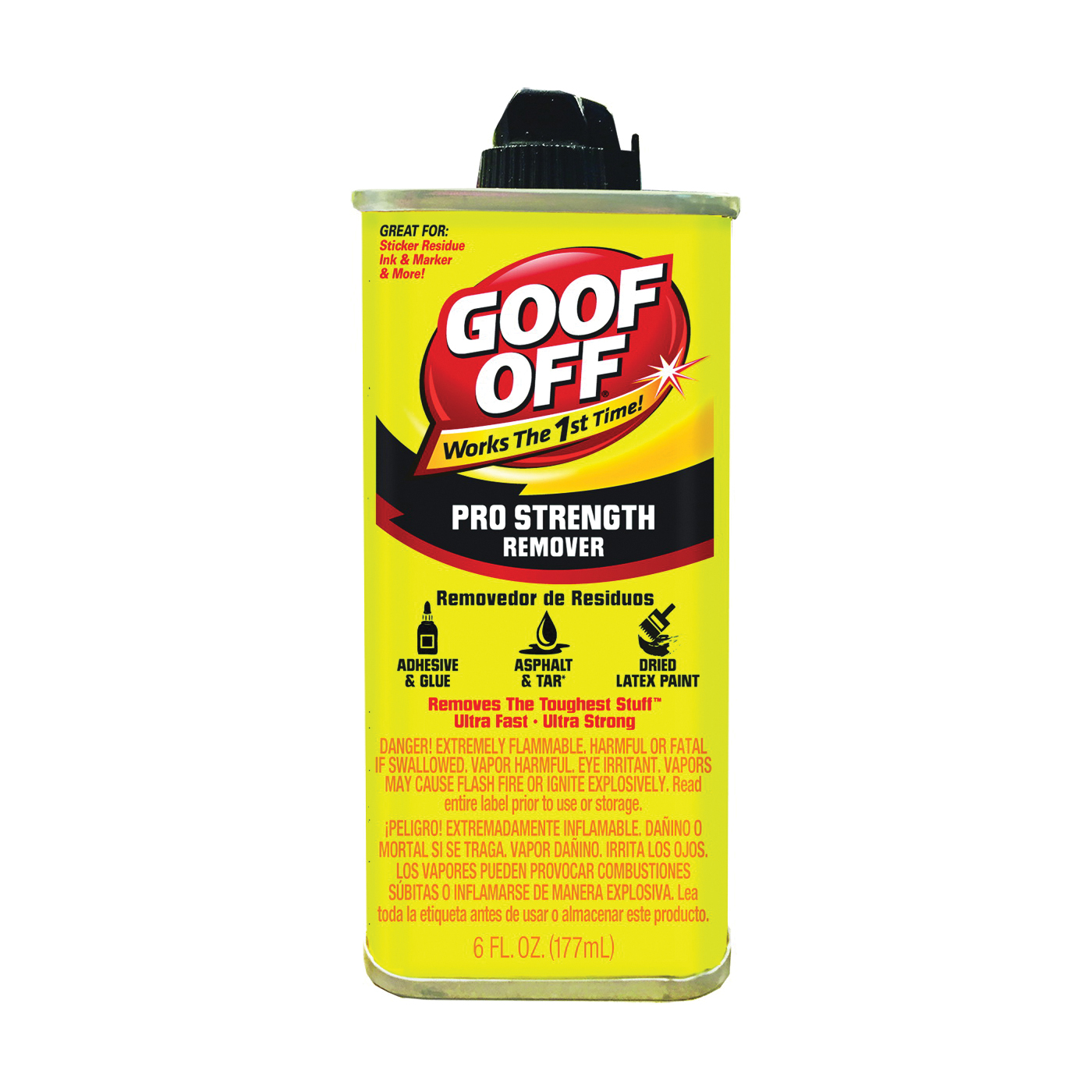 Picture of Goof Off FG661 Paint Remover, Liquid, White, 6 oz