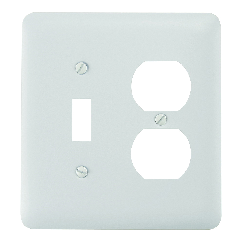 Picture of Amerelle 935TDW Wallplate, 5 in L, 4-5/8 in W, 2-Gang, Steel, White
