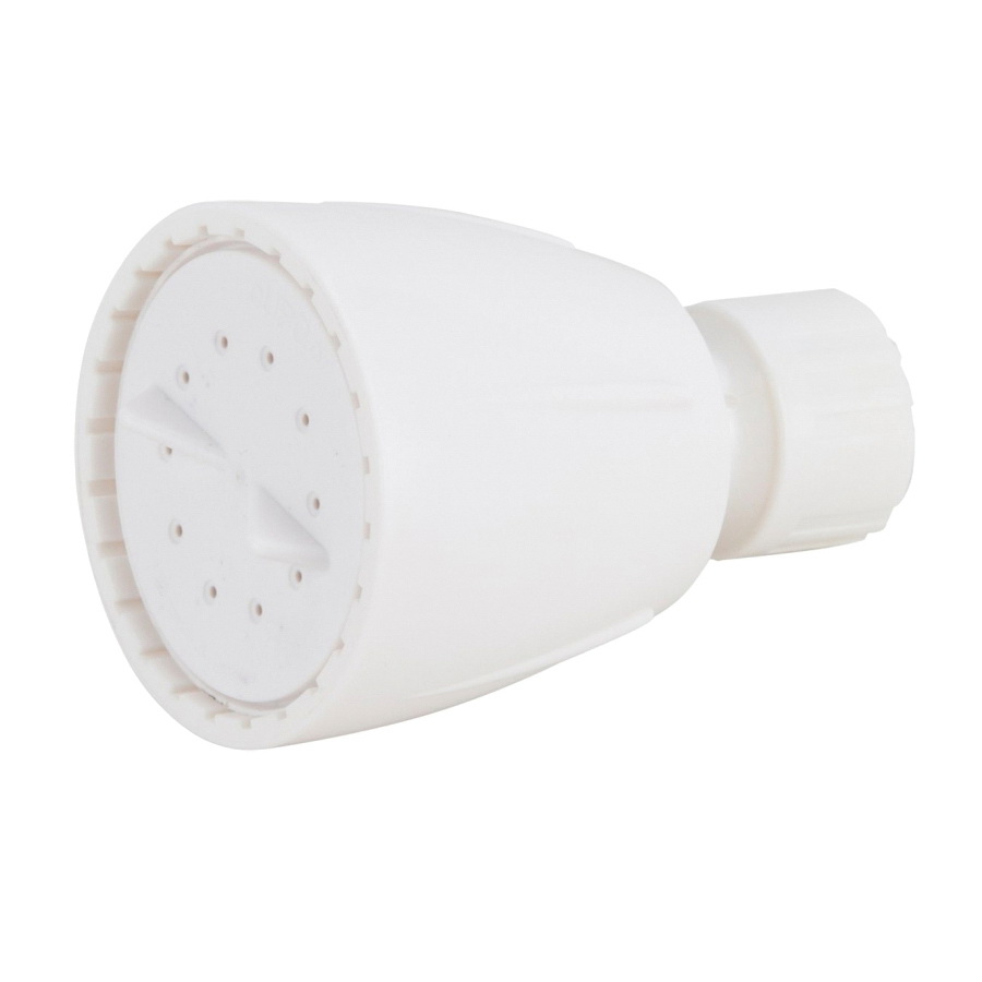 Picture of Boston Harbor S1210201WH Shower Head, 1.75 (6.6) 80 gpm (L/MIN) psi, 1/2-14 NPT Connection, Threaded, ABS, White