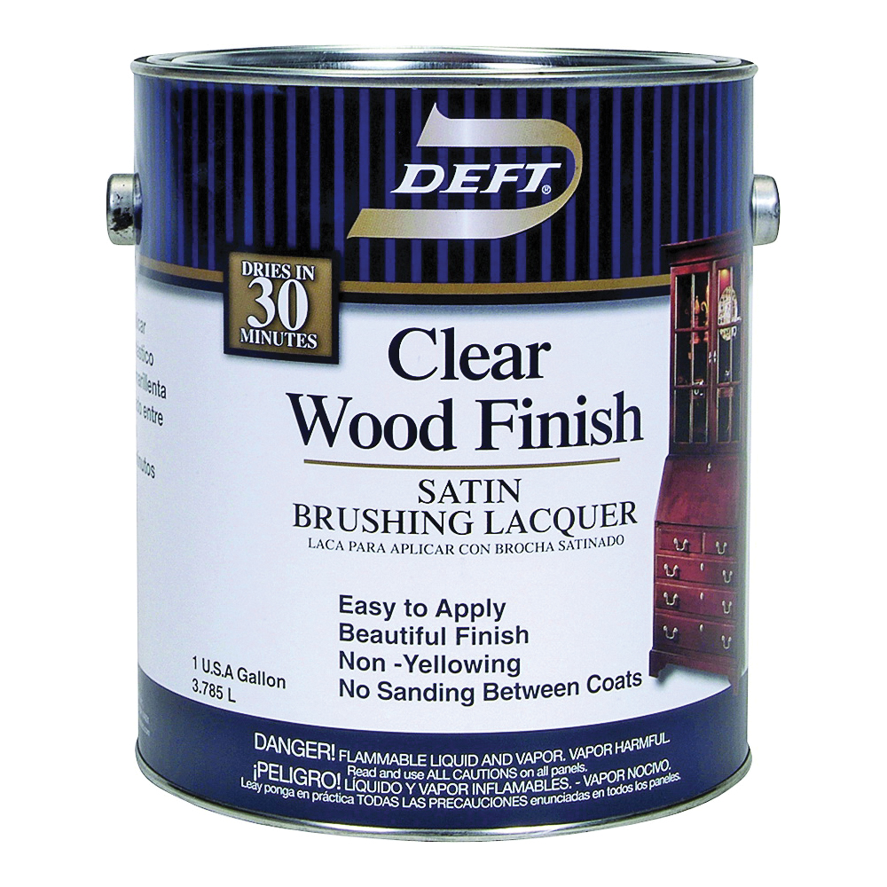 Picture of DEFT 017-01 Brushing Lacquer, Liquid, Clear, 1 gal, Can