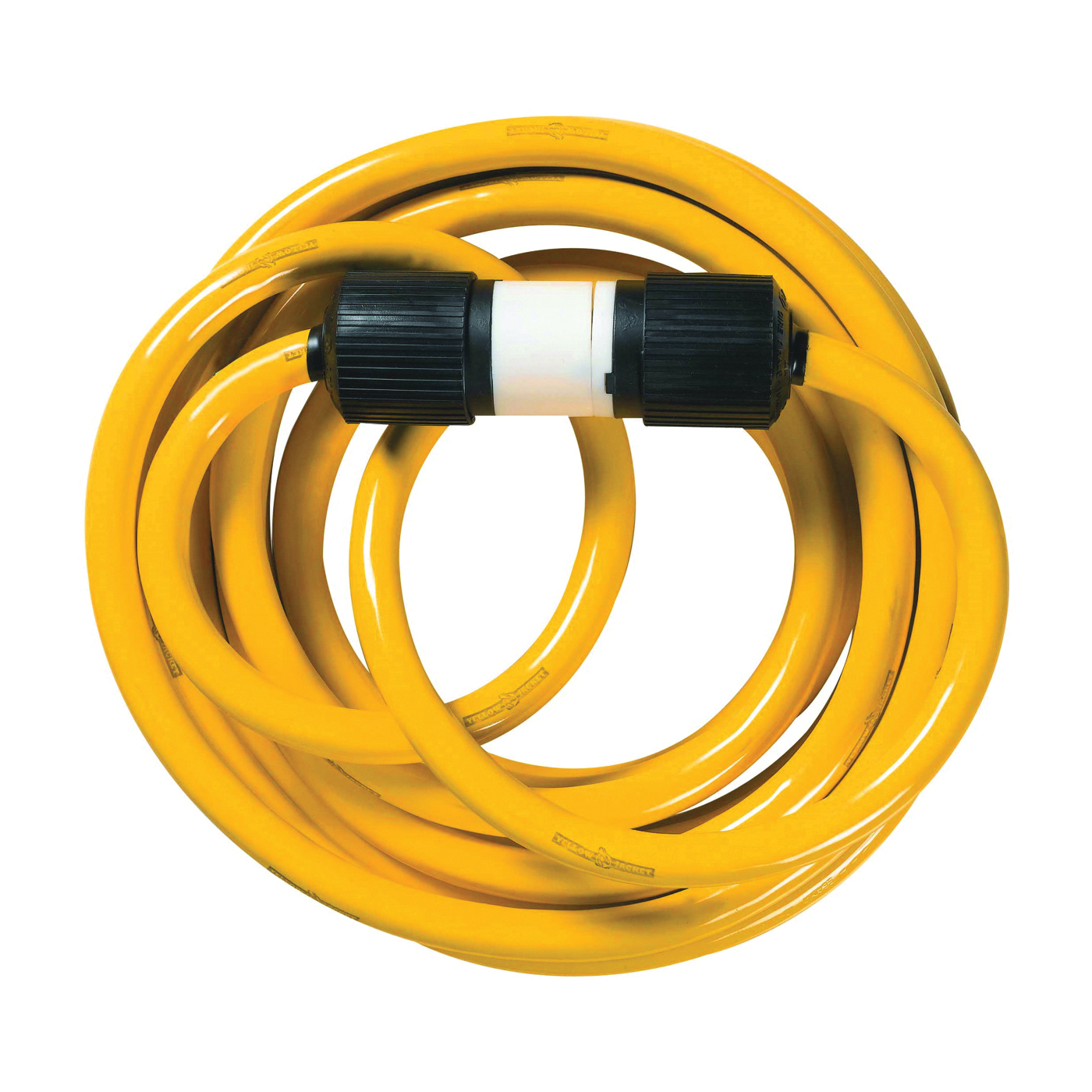 Picture of CCI 1493 Extension Cord, 10 AWG Cable, 25 ft L, 30 A, 125/250 V, Yellow Jacket