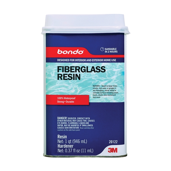 Picture of 3M 20122 Fiberglass Resin, Clear, 1 qt Package, Can