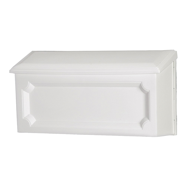 Picture of Gibraltar Mailboxes Windsor WMH00W04 Mailbox, 288.6 cu-in Capacity, Polypropylene, White, 15-1/2 in W, 4.7 in D