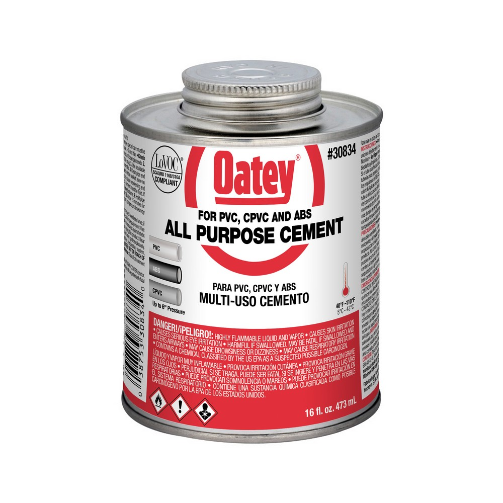 Picture of Harvey 30834 ABS Cement, Liquid, Clear/Milky, 16 oz Package