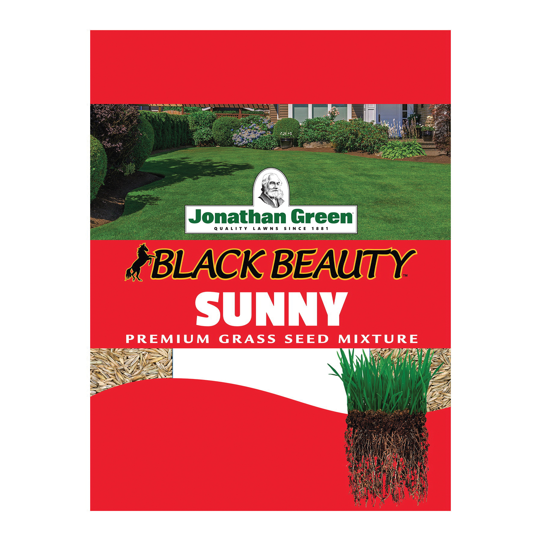 Picture of Jonathan Green Black Beauty 10870 Grass Seed, 25 lb Package, Bag