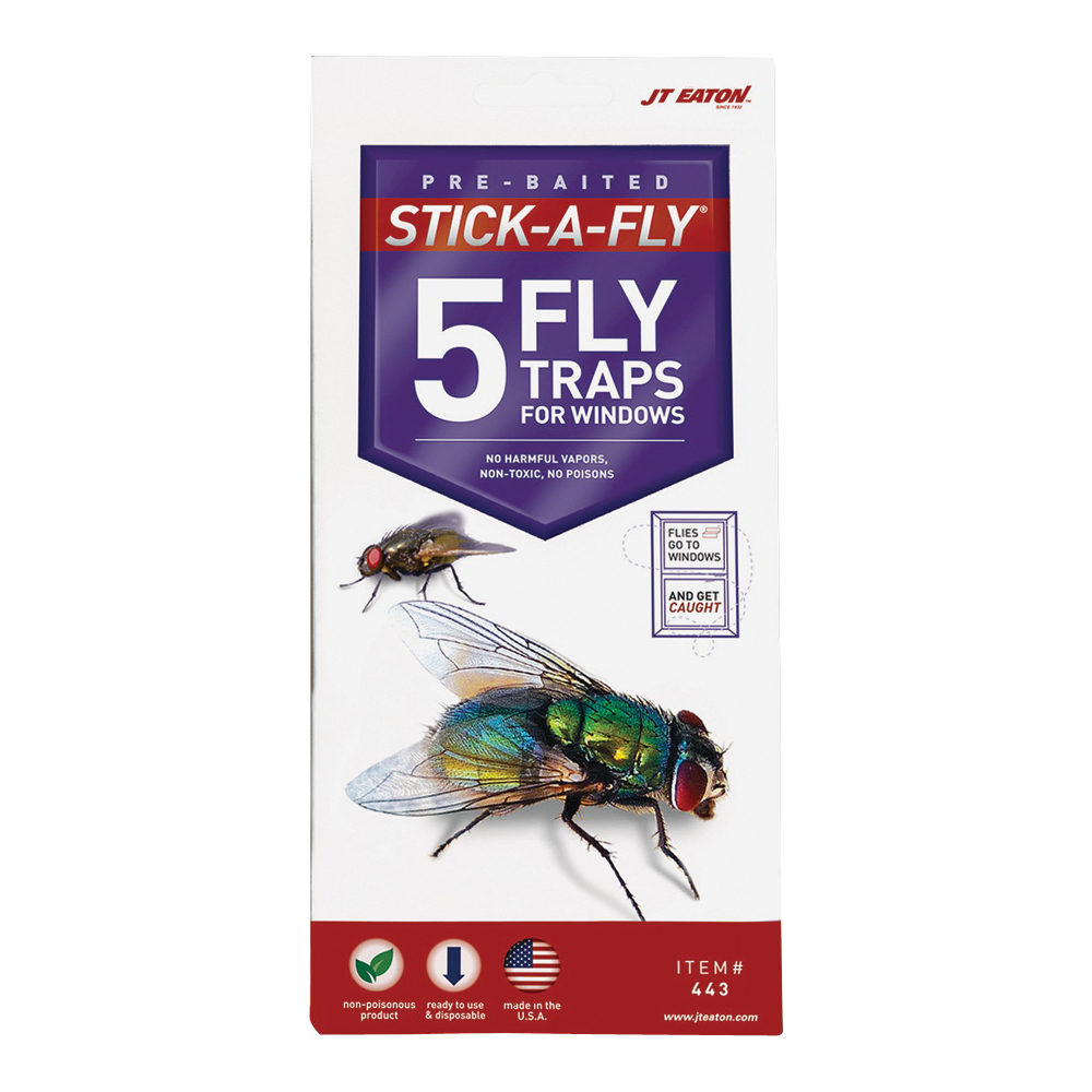 Picture of J.T. EATON Stick-A-Fly 443 Fly Trap, Solid, Petrol, 5 Package, Pack